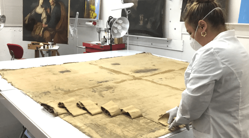 Art-Conservation-paintings-working-with-canvas
