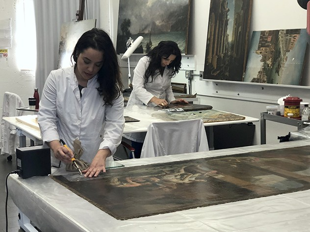 Qualified Art conservators